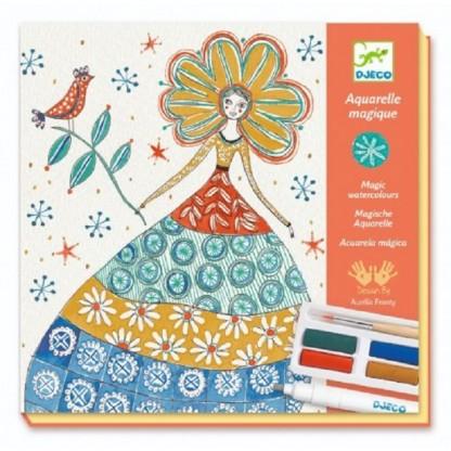 Atelier creativ de pictura Djeco, Rochii cu flori, de la 8 ani