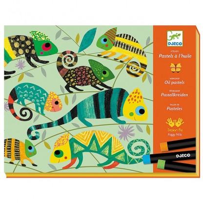 Atelier culori ulei pastel Jungla Djeco, de la 6 ani