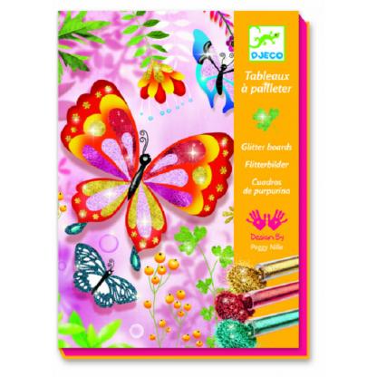 Joc creativ cu sclipici Fluturi, de la 7 ani