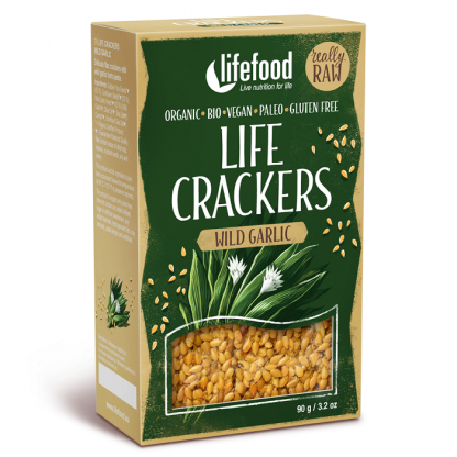 Lifecrackers cu leurda Raw BIO 90 Lifefood