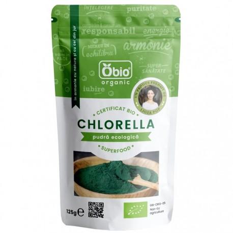Chlorella pulbere BIO Raw 125g Obio