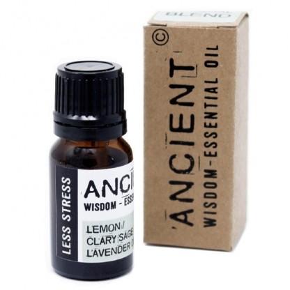 Amestec de uleiuri esentiale Less Stress (salvie, lamaie, lavanda) 10ml Ancient Wisdom Premium