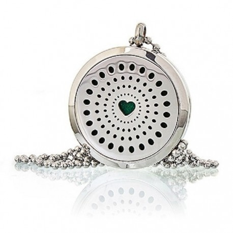 Colier aromaterapie Diamonds Heart 30mm Ancient Wisdom