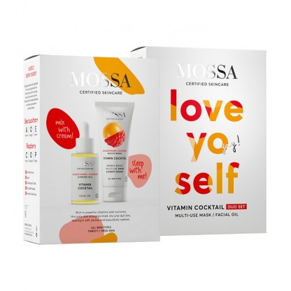 Duo Set Love Yo Self (Ulei facial si Crema multi-use Vitamin Cocktail Mossa