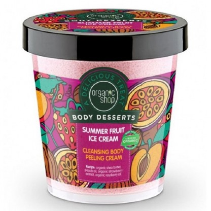 Peeling delicios pt corp Summer Fruit Ice Cream 450ml Organic Shop