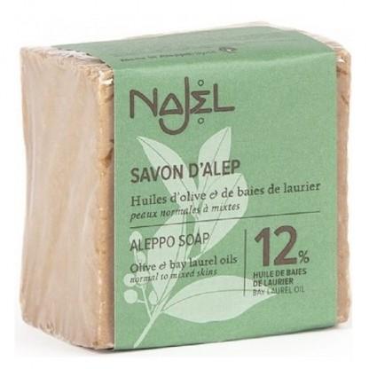 Sapun traditional de Alep cu 12% ulei de dafin 185g Najel