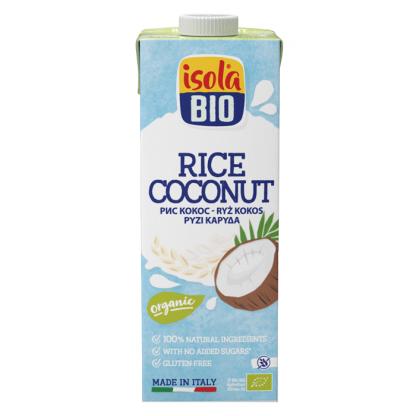 Bautura bio din orez cu nuca de cocos Isola Bio 1L (fara gluten)
