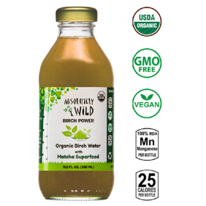 Seva de mesteacan cu Matcha BIO 330ml Absolutely Wild