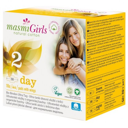 Absorbante de zi BIO 10 buc Masmi Girls