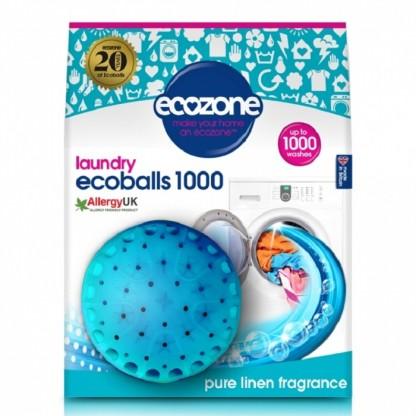 Ecoballs Bile eco pt spalarea rufelor cu parfum de in, 1000 spalari Ecozone