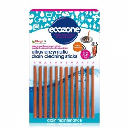 Stick pt desfundarea tevilor si eliminarea mirosului neplacut (citrice) 12 buc Ecozone