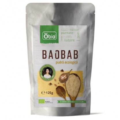 Baobab pulbere raw bio 125g Obio