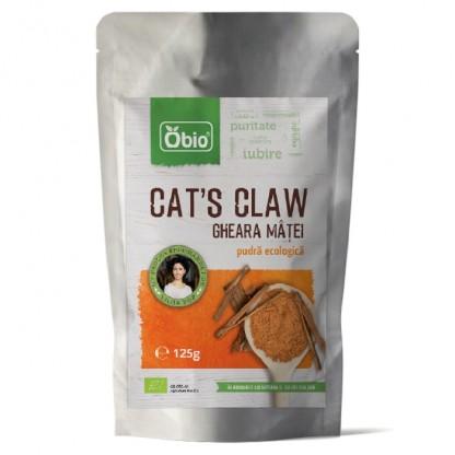 Cat's claw (gheara matei) pulbere RAW BIO 125g Obio