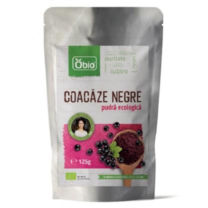 Coacaze negre pudra bio 125g Obio