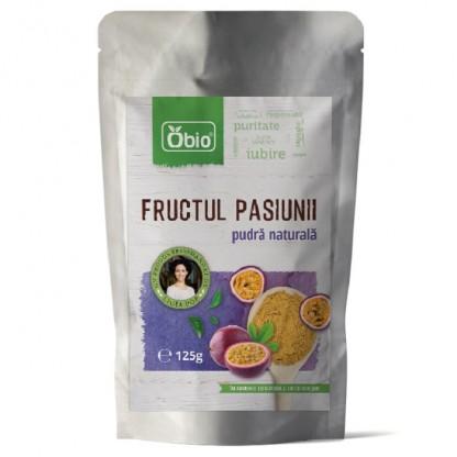Fructul pasiunii (maracuja) pulbere raw 125g Obio