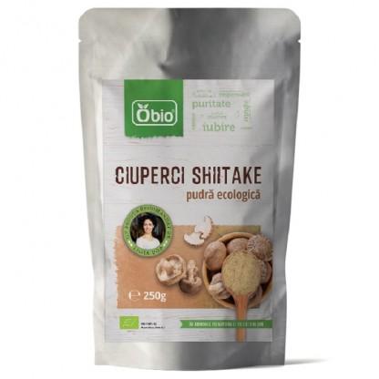 Ciuperci shiitake pudra Raw BIO 250g Obio