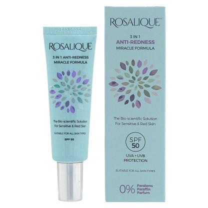 Crema Fond de ten (anti-roseata, cuperoza) 3 in 1 cu Spf 50 Rosalique 30 ml