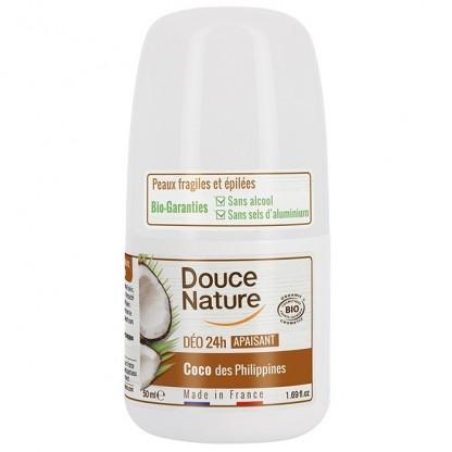 Deo roll-on calmant cu cocos (piele sensibila, epilata) 50ml Douce Nature