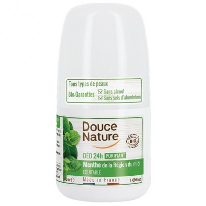 Deo roll-on purifiant cu menta (toate tipurile de piele) 50ml Douce Nature