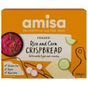 Crispbread (painici) din orez si porumb fara gluten bio 150g Amisa