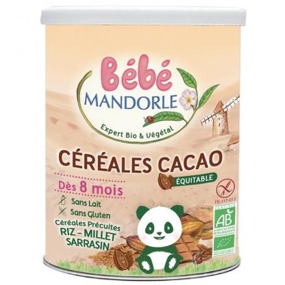 Cereale cu cacao pentru bebelusi de la 8 luni 400g Bebe Mandorle