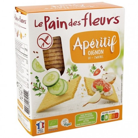 Turte crocante cu ceapa BIO, fara gluten 150g Le Pain des Fleurs