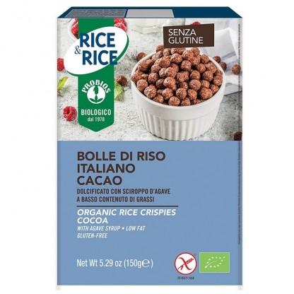 Bilute de orez cu cacao fara zahar, fara gluten 150g Probios