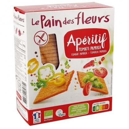 Turte crocante aperitiv cu rosii si paprika BIO 150g Le Pain des Fleurs