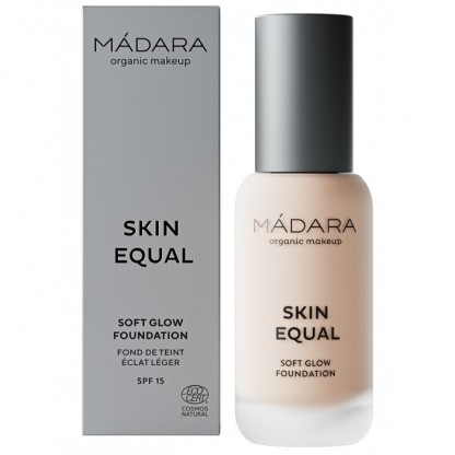 Fond de ten soft glow SPF15 - Skin Equal 10 Porcelain 30ml Madara