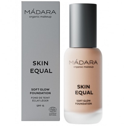 Fond de ten soft glow SPF15 - Skin Equal 30 Ivory Rose 30ml Madara