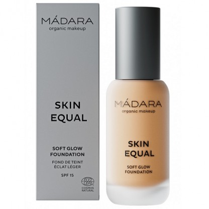 Fond de ten soft glow SPF15 - Skin Equal 40 Sand 30ml Madara