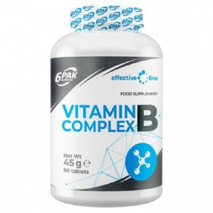Vitamina B Complex 500mg, 90 tablete 6Pak Nutrition