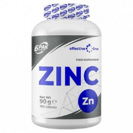 Zinc 15mg, 180 tablete 6Pak Nutrition