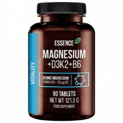 Magneziu + Vitamina D3, K2 si B6, 90 tablete Essence