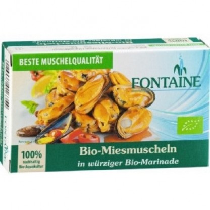 Midii in sos picant BIO 120g Fontaine