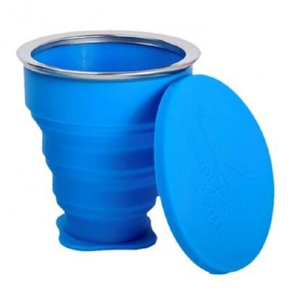 Pahar pliabil pentru igienizarea cupei menstruale (albastru) 225ml Me Luna