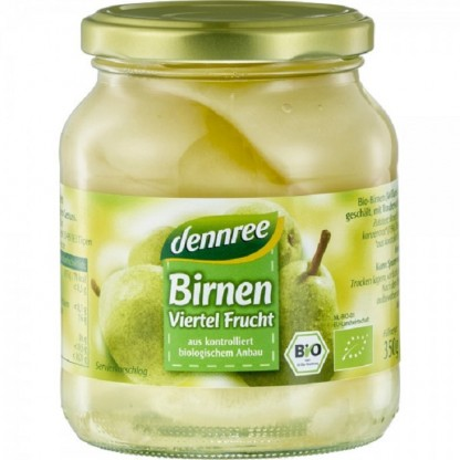 Compot din pere Williams BIO 350g Dennree