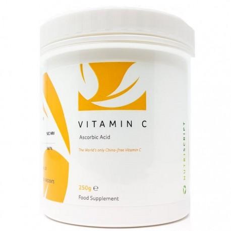 Vitamina C pura, sub forma de acid ascorbic, non-China250g Nutriscript