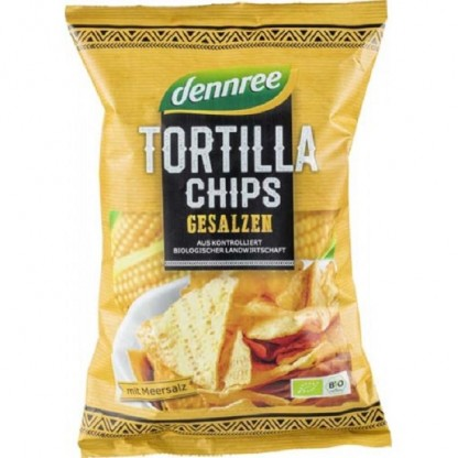 Tortilla chips cu sare BIO 125g Dennree