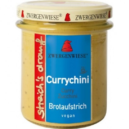 Crema tartinabila vegetala Currychini cu zucchini fara gluten, BIO 160g Zwergenwiese