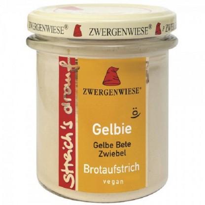 Crema tartinabila vegetala Gelbie cu sfecla galbena si ceapa fara gluten, BIO 160g Zwergenwiese