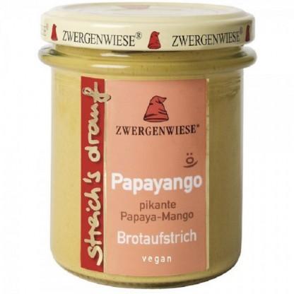 Crema tartinabila vegetala Papayango cu papaya picanta si mango fara gluten, BIO 160g Zwergenwiese
