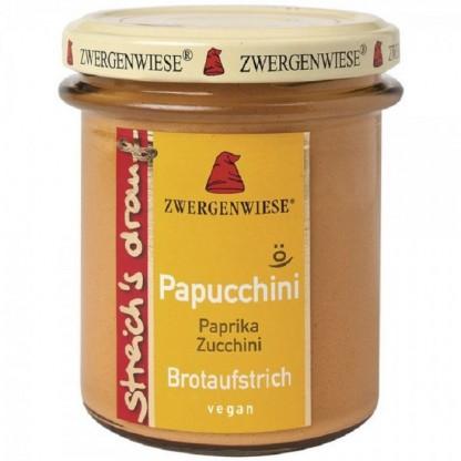 Crema tartinabila vegetala Papucchini cu ardei si zucchini fara gluten, BIO 160g Zwergenwiese