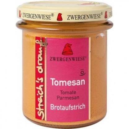 Crema tartinabila vegetala Tomesan cu tomate si parmezan fara gluten, BIO 160g Zwergenwiese