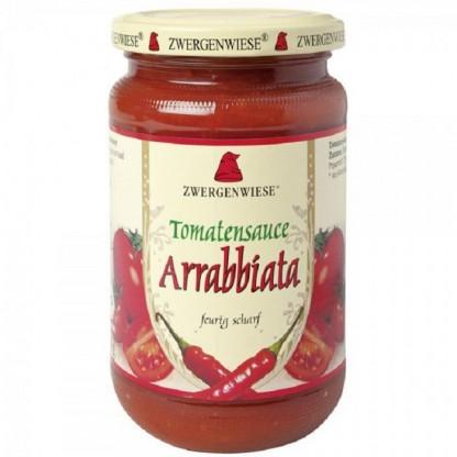 Sos de tomate Arrabbiata cu ardei iute BIO fara gluten 340ml Zwergenwiese