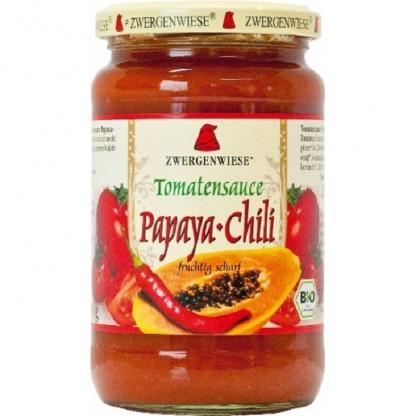 Sos de tomate Papaya Chilli BIO fara gluten 340ml Zwergenwiese
