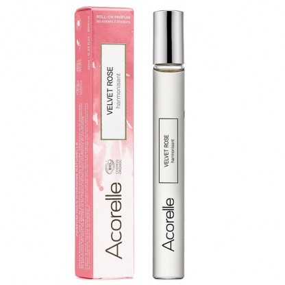 Apa de parfum BIO Velvet Rose roll-on 10ml Acorelle BIO