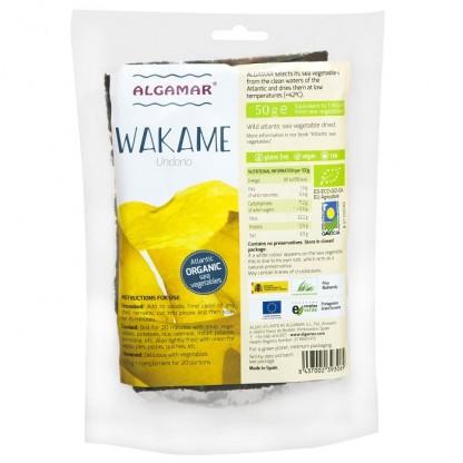 Alge Wakame salbatice Raw BIO 50g Algamar
