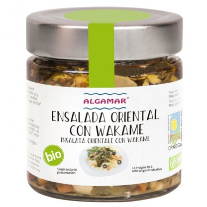 Salata orientala cu alge wakame BIO 190g Algamar