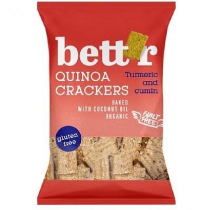Crackers cu quinoa si turmeric fara gluten ECO 100g Bettr
